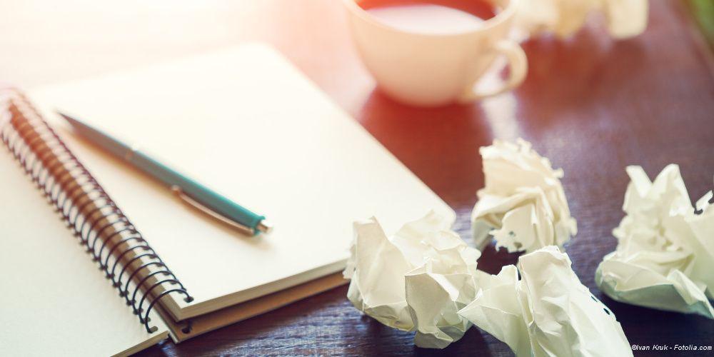 So überwinden Sie Schreibblockaden