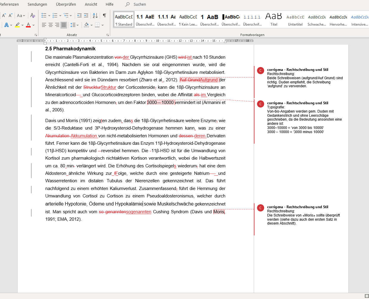 Beispiel Lektorat & Roter Faden